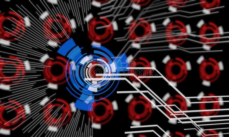 Techno-Linien des Hintergrundes, 3d vektor abbildung