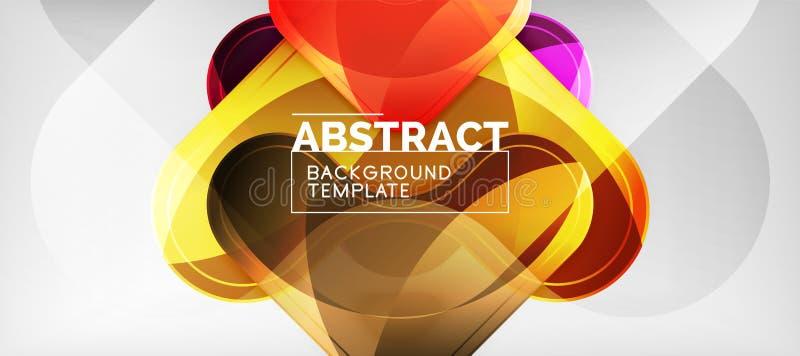 Techno linjer, högteknologisk futuristisk abstrakt bakgrundsmall med pilformer stock illustrationer