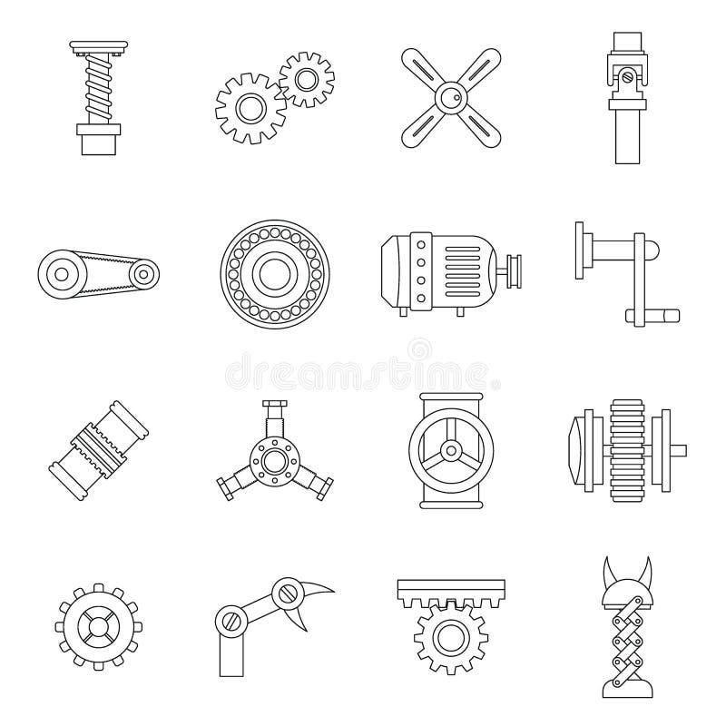 Free Techno Mechanisms Kit Icons Set, Outline Style Royalty Free Stock Photos - 86407658