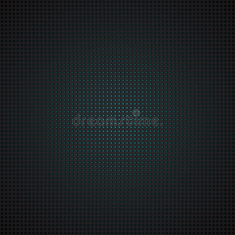 Techno pattern, black metal grid with turquoise color light. Vector background illustration royalty free illustration