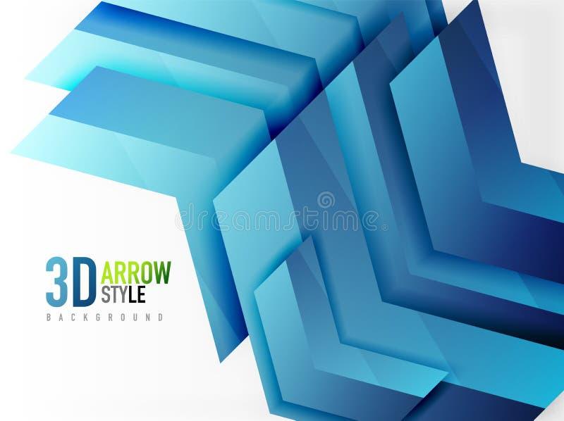 Techno pilbakgrund stock illustrationer