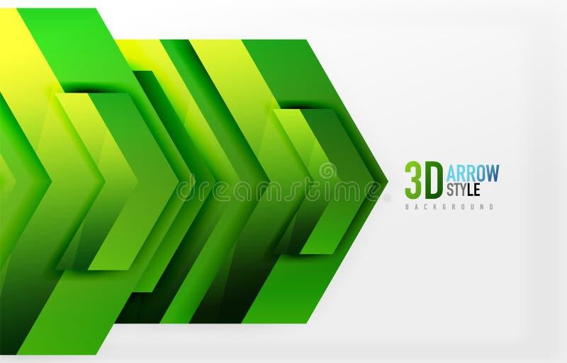 Techno pilbakgrund vektor illustrationer