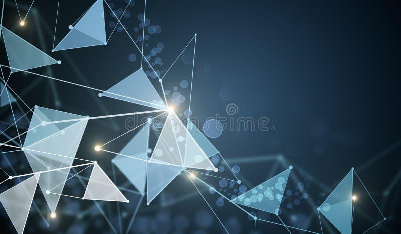Techno polygonal bakgrund royaltyfri illustrationer
