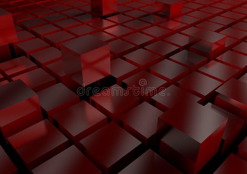 Techno tła sześciany 3D ilustracja wektor
