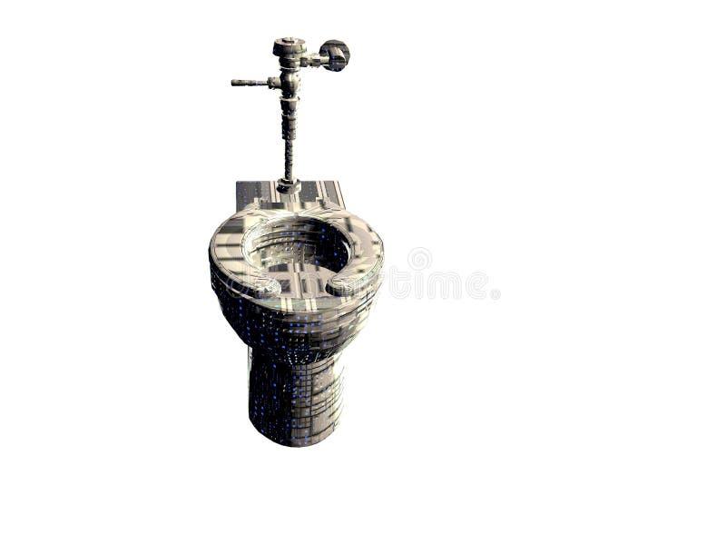 Techno Toilet. Isolated illustrated Techno toilet vector illustration