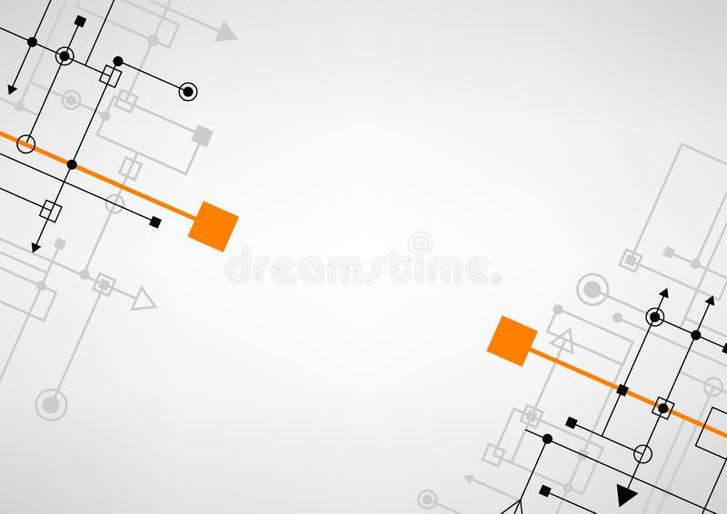 Techno verbindt achtergrond stock illustratie