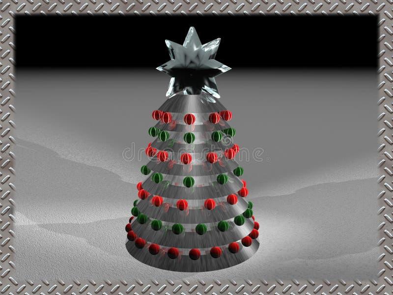 Techno Weihnachten 2 vektor abbildung