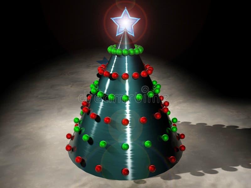 Techno Weihnachten lizenzfreie abbildung