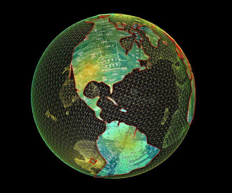 TechnoAmericas illustration stock