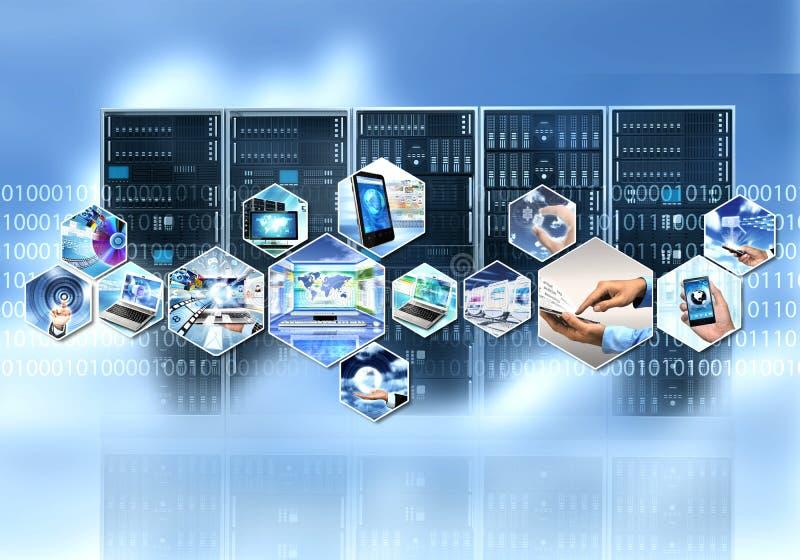 technolgy的互联网和的信息 免版税库存图片