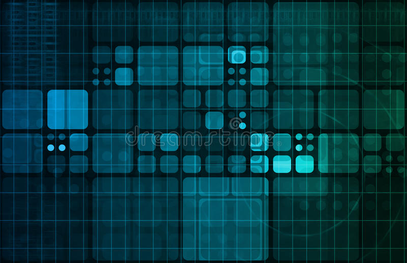 Technologia abstrakt royalty ilustracja