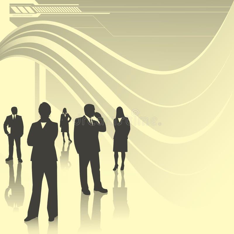Technologia biznesu drużyna ilustracja wektor