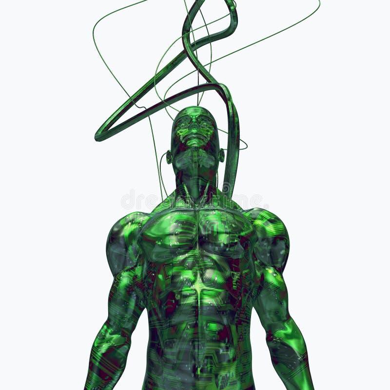 technologia cybernetyczna cyfrowa 3 d ilustracja wektor