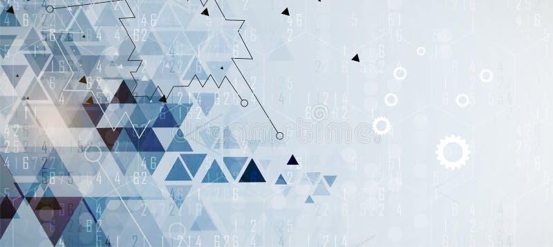 Technologia cyfrowa świat Biznesowy wirtualny pojęcie Wektorowy backg royalty ilustracja