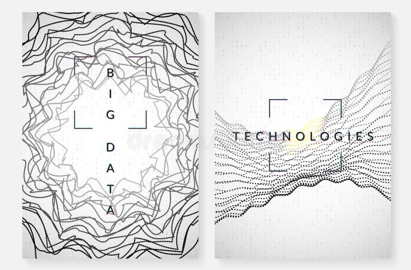 Technologia cyfrowa abstrakta t?o Sztuczna inteligencja, g??boki uczenie i du?y dane poj?cie, royalty ilustracja