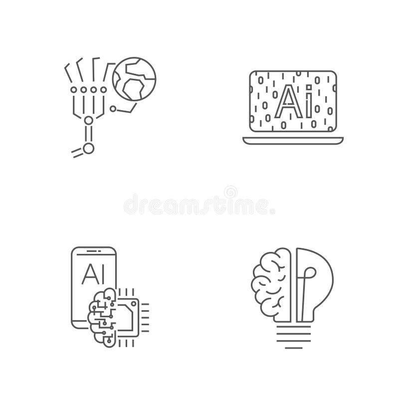 Technologia Cyfrowa Editable uderzenie 10 eps ilustracji
