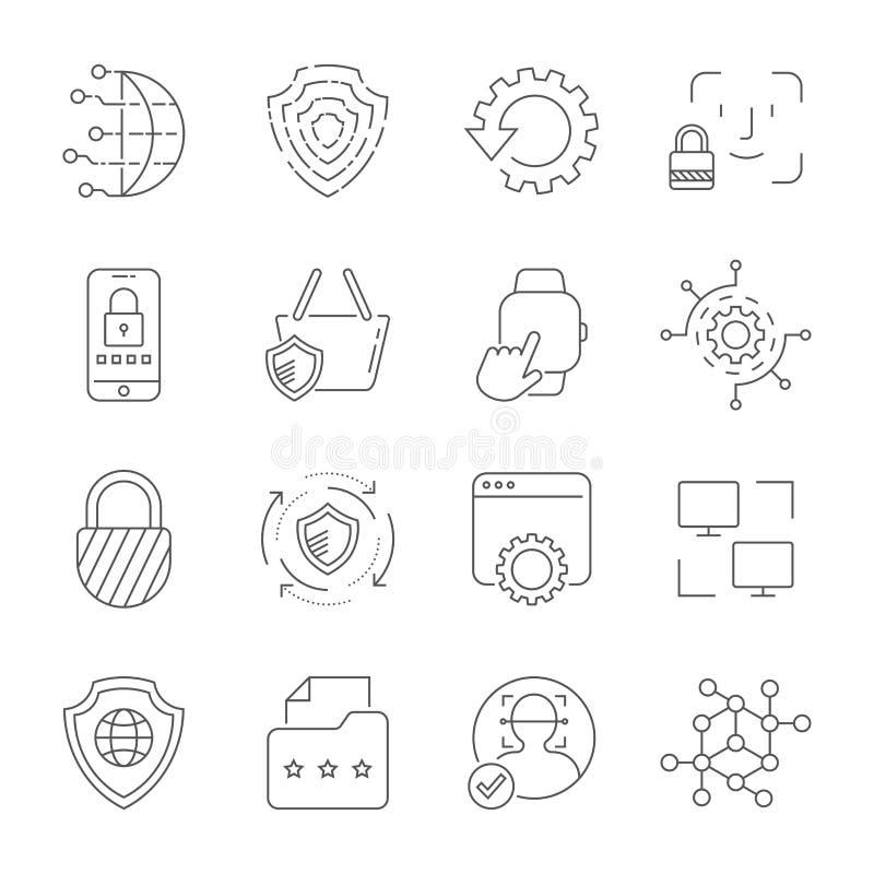 Technologia Cyfrowa Editable uderzenie 10 eps ilustracja wektor