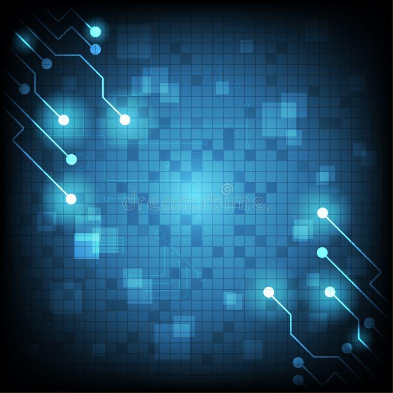 technologia cyfrowy abstrakt ilustracja wektor