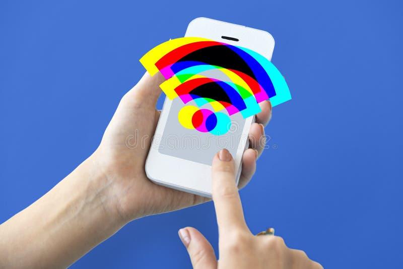 Technologia gadżetu ikon znaków Podaniowy pojęcie zdjęcie stock