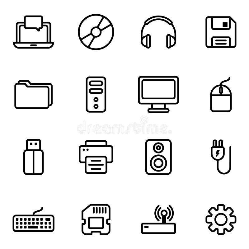 Technologia i komputer ikona royalty ilustracja