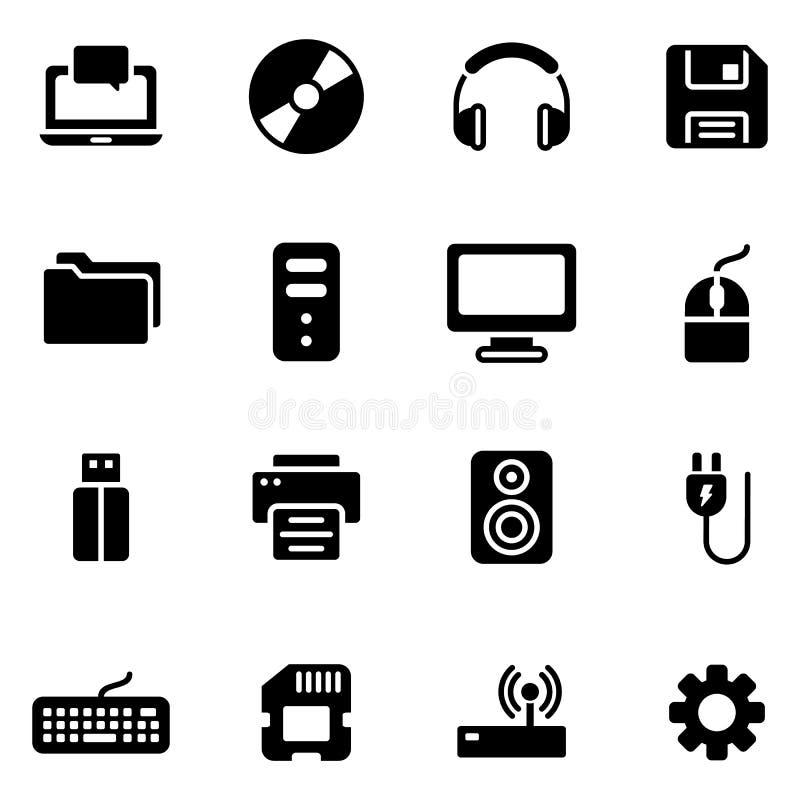 Technologia i komputer ikona ilustracji