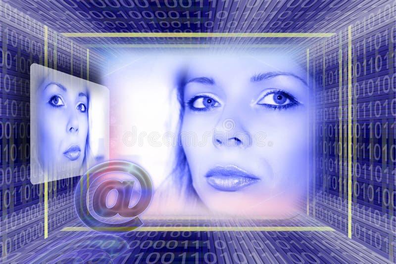 technologia informacyjna poczty e zdjęcie stock