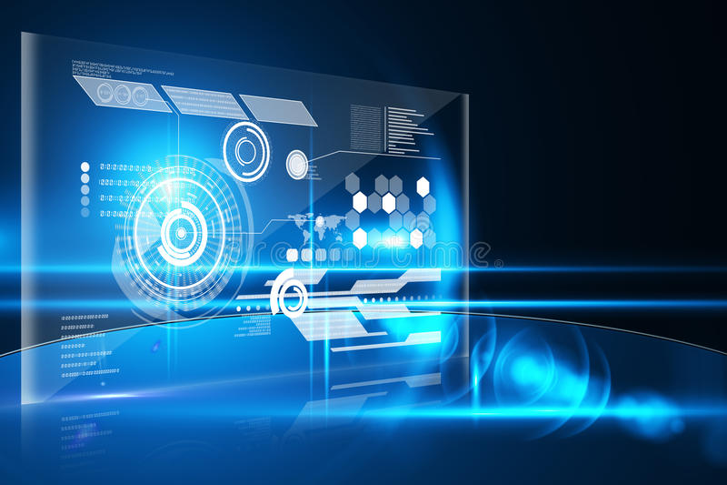 Technologia interfejs royalty ilustracja
