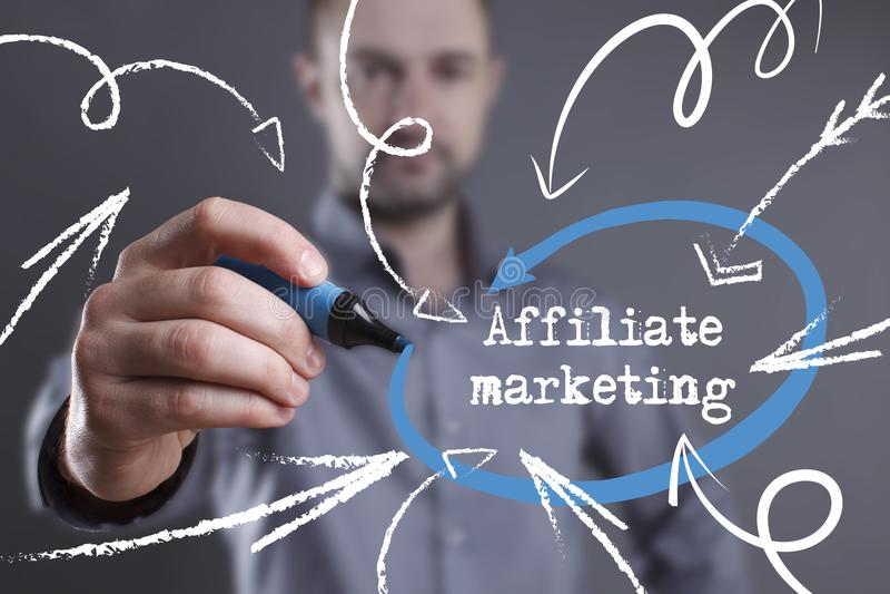 Technologia, internet, biznes i marketing, interes faceta obraz stock