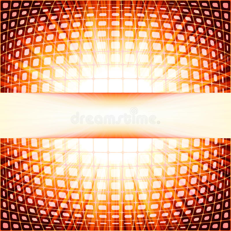 Technologia kwadraty z czerwonym racy wybuchem.  ilustracji