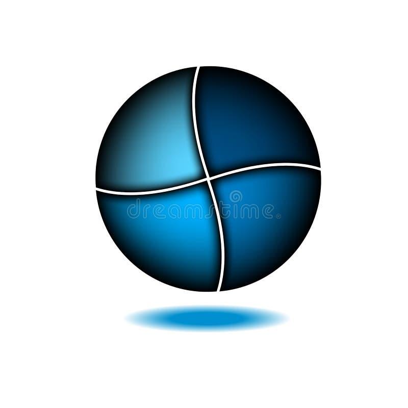Technologia logo projekta abstrakcjonistyczny błękitny szablon Nauka wodny symbol Cząsteczkowy lub elektroniczny znak Cześć techn royalty ilustracja