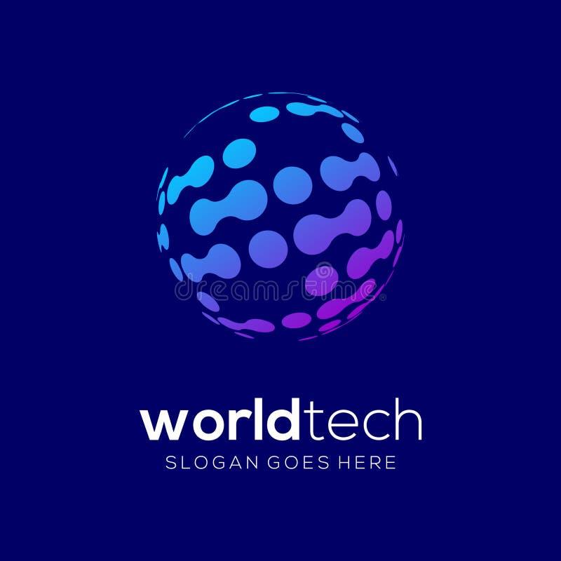Technologia logo Unikalny szablon ilustracja wektor