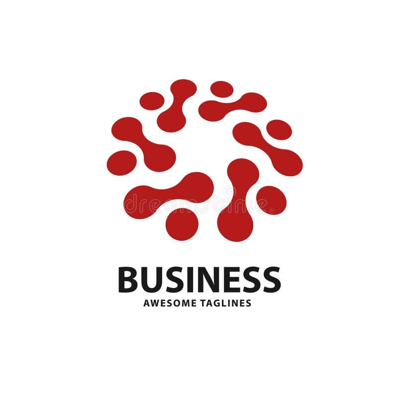 Technologia logo z okrąg kropką łączy ilustracji