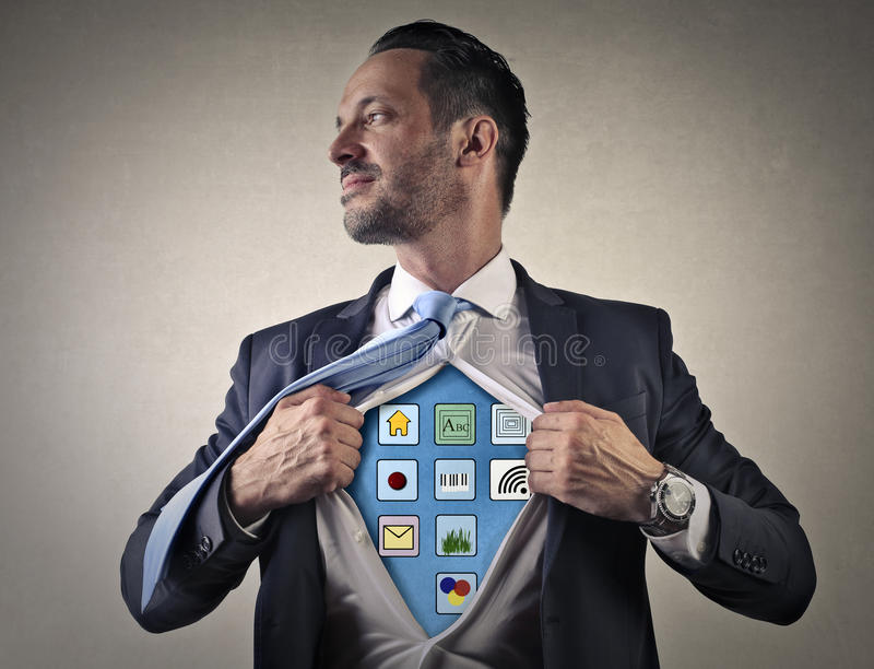 Technologia mężczyzna zdjęcie royalty free