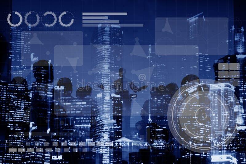Technologia networking Medias Podłączeniowy Online pojęcie zdjęcie stock