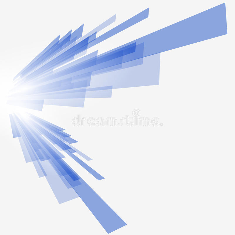Technological blue background