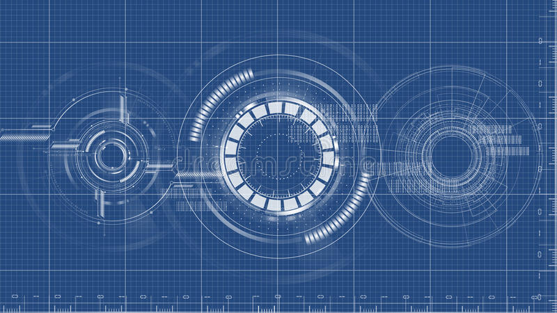 Technological blueprint technical drawing background vector royalty free illustration