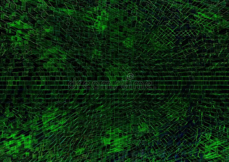 Green technological texture background illustartion royalty free stock images