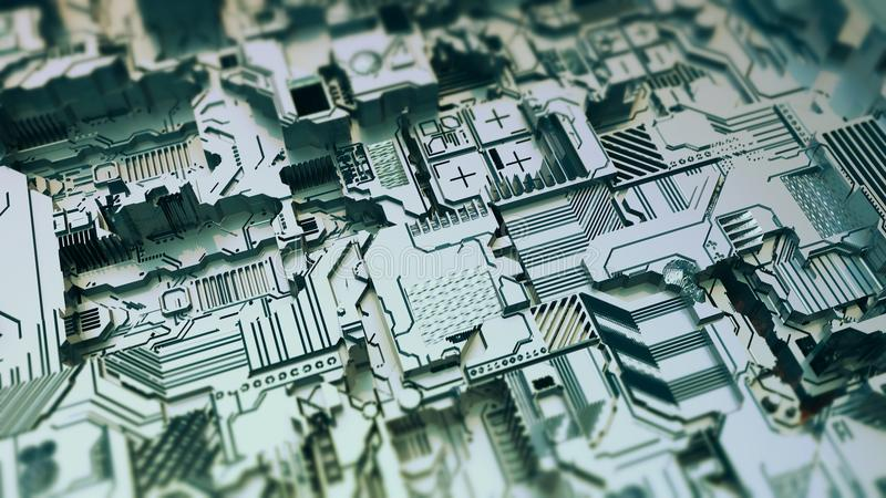 Technological project concept. Technological project of construction close up background royalty free stock photo