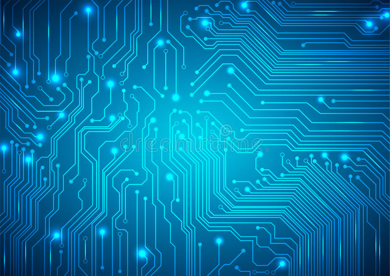 Technological Vector Background With A Circuit Board Texture Stock ...
