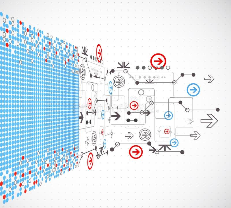 technologiczny abstrakcjonistyczny tło ilustracja wektor