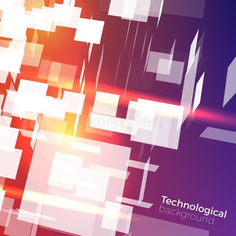 Technologiczny wektorowy tło ilustracji