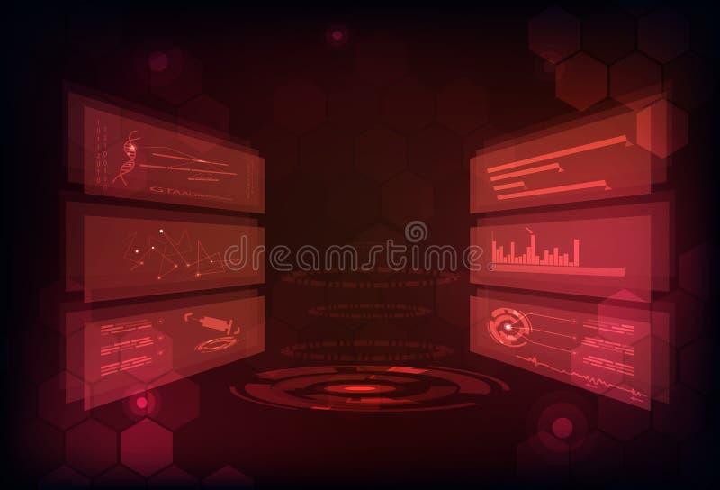 Technologie abstracte achtergrond digitaal futuristisch infographic GA royalty-vrije illustratie
