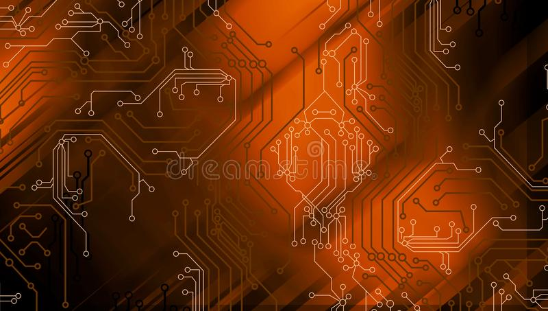 Technologie Abstracte Achtergrond, futuristische achtergrond, cyberspace Concept Vector illustratie stock illustratie
