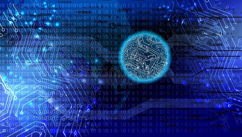 Technologie Abstracte Achtergrond, futuristische achtergrond, cyberspace Concept vector illustratie