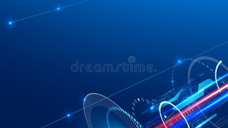 Technologie abstracte achtergrond op het onderwerp van techniek, de industrie en mededelingen royalty-vrije illustratie