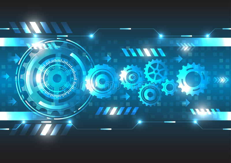 Technologie abstraite d'avenir d'ingénierie de vecteur illustration de vecteur