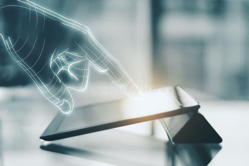 Technologie, AI und zukünftiges Konzept stockfoto