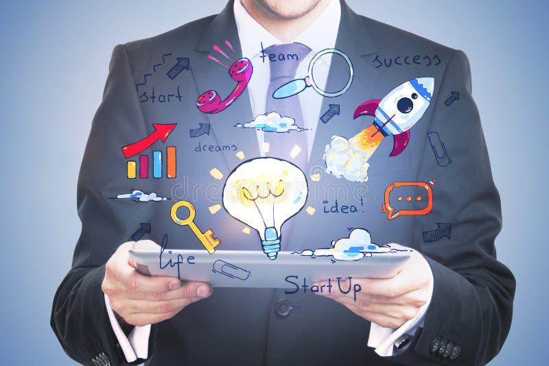 Technologie, apparaten en communicatie concept stock afbeeldingen