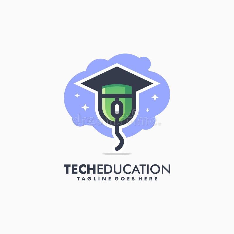 Technologie-Ausbildungs-Sport-Konzeptillustrationsvektor Entwurfsschablone vektor abbildung