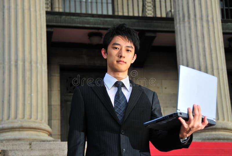 Technologie-ausgebufftes asiatisches Leitprogramm 1 stockfoto